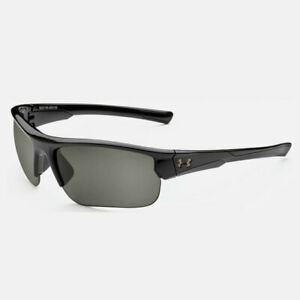 UNDER ARMOUR PROPEL SUNGLASSES SHINY BLACK FRAME  GRAY LENS NEW IN BOX!! 19672