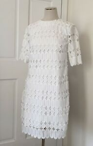 NWT Banana Republic Limited Edition White Lace Cocktail Dress - size 0