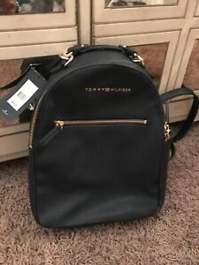 Tommy Hilfiger leather Backpack Purse NEW