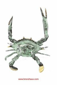 Colorful Bronze Metal Crab Sculpture 6