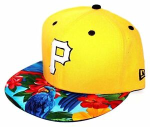 Pittsburgh Pirates Tropical Parrot Brim 9FIFTY New Era SnapBack Yellow