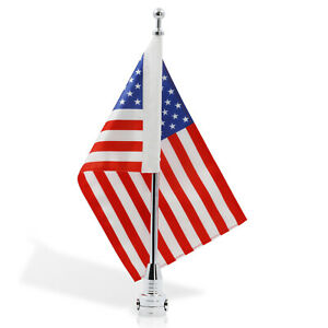 Anley Motorcycle Flagpole Mount and American Flag Flag Pole Fixed Mount 7x10