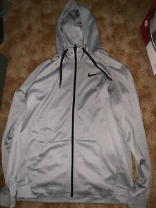 Mens XLT Nike Basketball Dri-fit Hoodie Silver Worn Only Twice