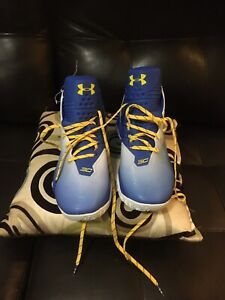 Under Armour Stephen Curry basketball shoes Men size 12 Blue White