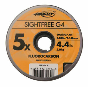 Airflo Tippet Leader Sightfree G4 Fly Fishing Fluorocarbon 30yd Various Sizes