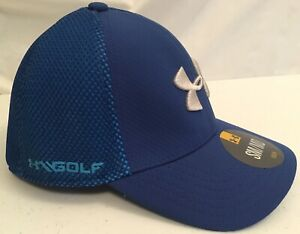 NWT Youth Under Armour GOLF BlueGray Fitted Mesh Back Stretch Hat Cap SZ SMMD