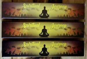 1 3 x 15g SPIRITUAL JOURNEY Calming Guide for Meditation New Moon Incense Sticks