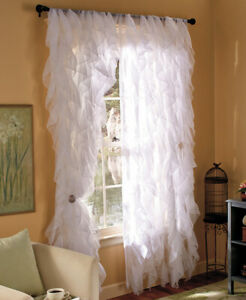 Feminine Girly Touch For Your Home Cascade Ruffled Window Coverings Curtain