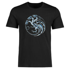 Game of Thrones Dragon Men's Funny T-shirts Cotton Short Sleeve Tee Black Tops