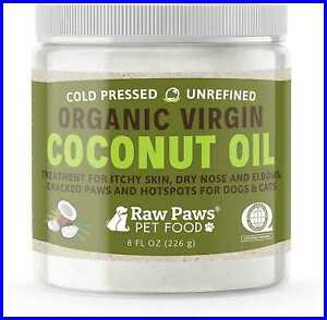 Raw Paws Organic Coconut Oil For Dogs amp; Cats 8 Oz Treatment Itchy Skin Dry Nose