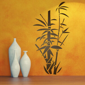 Bamboo Chinese Canes Flower Living room Wall Art Vinyl Decal GIFT Sticker V116