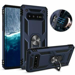 For Samsung Galaxy S10PlusS10e Magnetic Support Metal Ring Defender Case Cover