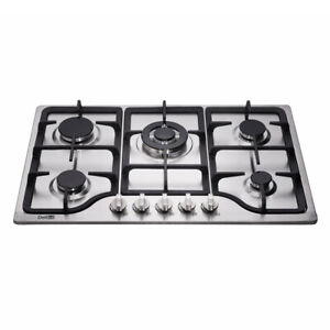 Delikit B 30quot; 5 burners gas cooktop gas hob NG LPG dual fuel sealed S.S panel