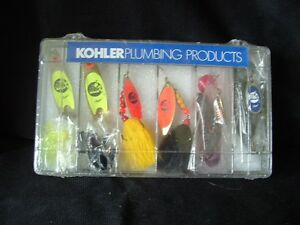 Mepps Syclops Fishing Lures - Set of 6 Made for Kohler Plumbing Products - NIP