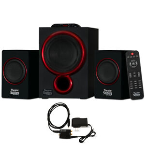 Theater Solutions 2.1 Bluetooth Speaker System with Digital Optical Input for TV