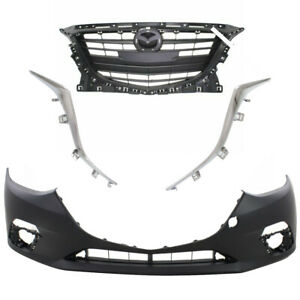 New for MAZDA 3 2014-2016 Front Grille Molding Bumper Cover fits Sedan 4-Door