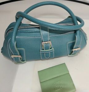 LOEWE WOMANS HANDBAG WITH WALLET SPRING SUMMER COLORS BLUE GREEN