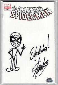 The Amazing Spider-Man #648  Stan Lee Signed Sketch & Remark