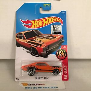 '68 Chevy Nova #61 * Orange * 2017 Hot Wheels FACTORY SET * HG32