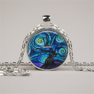 Glass Tile Necklace Tree Necklace Tree of Life Glass Tile Jewelry Tree Jewelry#� $1.89