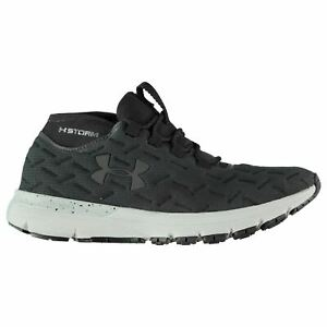 Under Armour Charged Reactor Running Shoes Mens Black Fitness Trainers Sneakers