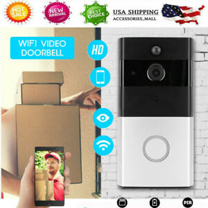 Smart Wireless Wi-Fi Enabled Video Doorbell HD Video Camera Phone Night Vision