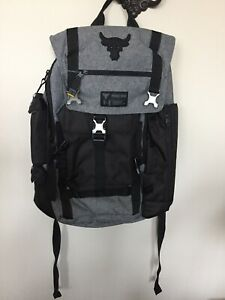 Under Armour Project Rock Regiment Chase Greatness Gray bag RARE 1325331 NWT