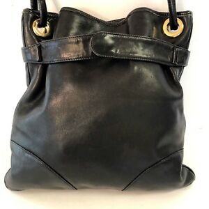 Mark Cross New York Vintage Black Leather Shoulder bag