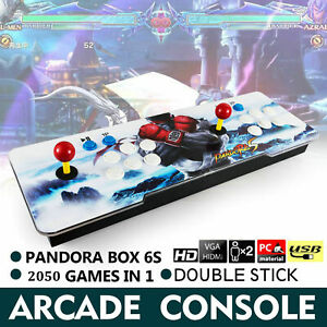 NEW 2050 in 1 Pandora 6S box Arcade Retro game console HDMI TV PC PS3 2 Stick