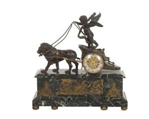 French Bronze Chariot Mantel Clock Directoire Empire Period ( 1795-1820) !!!!