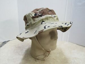 Genuine USGI 6 Color Chocolate Chip Boonie Hat Gulf War Desert Camo 7 1/2 NOS