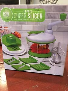 Cook Works by Art + Cook 13-Piece Super Slicer New In Box Manual Food Processor