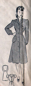 UNUSED Vintage FRENCH Sewing Pattern MODELE PARIS DRESS Bust 32.3 quot; $14.99