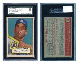 1952 Topps MICKEY MANTLE Rookie New York Yankees SGC 5.5