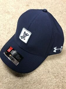 New Under Armour Hat Cap Winged Foot Country Club Golf womens Blue Classic Fit