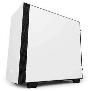 NZXT H400i No Power Supply MicroATX Case w Lighting and Fan Control Matte White