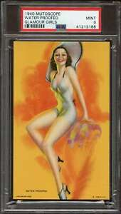 1940 MUTOSCOPE GLAMOUR GIRLS WATER PROOFED PSA 9 *DS7705