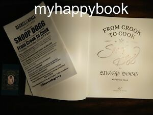 SIGNED From Crook to Cook Platinum Recipes by Snoop Dogg autographed new
