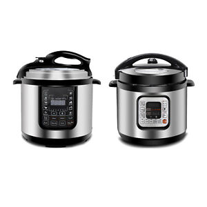 Stainless Steel Pressure Cooker  Fast Heat Powerful 1000W 6.3Qt Family Capacity