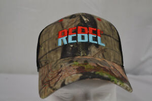 NEW REBEL Lure Fishing Hat Camo Trucker Cap CAP