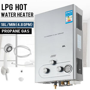 18L 4.8GPM Lpg Gas Propane Water Heater Tankless Instant Hot Water Boiler Shower
