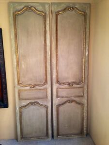 Antique 1780's French Chateau Wall Panels Doors Set Of Four RARE!