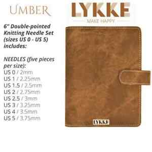 LYKKE ::Umber Double Pointed Needles Set:: SMALL in Umber Pouch $99.95