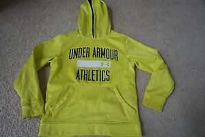 Youth Under Armour Hoodie YXS extra small yellow loose $12.00