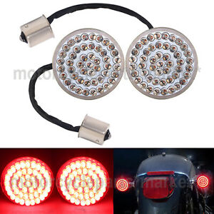 Bullet-Style 1156 Rear Red LED Turn Signal Insert Lights for Harley Street Glide