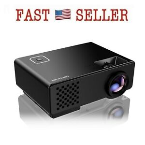 Projector Upgraded DBPOWER Mini Multimedia Home Theater Video 1080P HDMI 1800lum