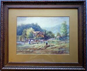 FREDERICK HENRY BRIGDEN 1871-1956 CANADA SIGNED ORIGINAL WATERCOLOR WC PAINTING