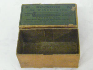 Vintage Winchester .32 Center Fire 115 Grain Lead Bullets Cartridges Box