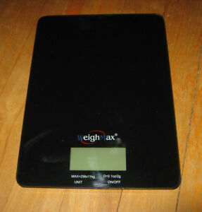 Weighmax GB25 Digital Mailing & Food Kitchen Scale, NOT WORKING FOR PARTS/REPAIR