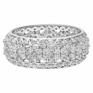 Charming diamond Floral Eternity Band. 3.00 carats in diamonds. Size 9